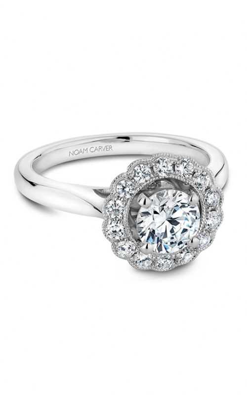 Noam Carver Floral Engagement ring B086-01A product image