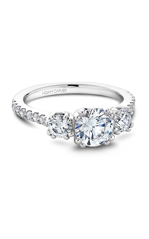 Noam Carver 3 Stone Engagement ring B001-05A product image
