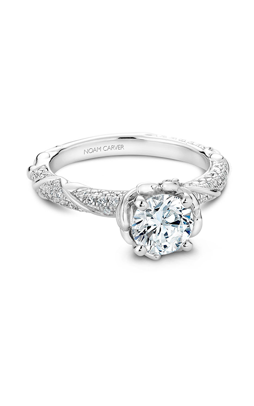 Noam Carver Floral Engagement Ring B081-02WM product image