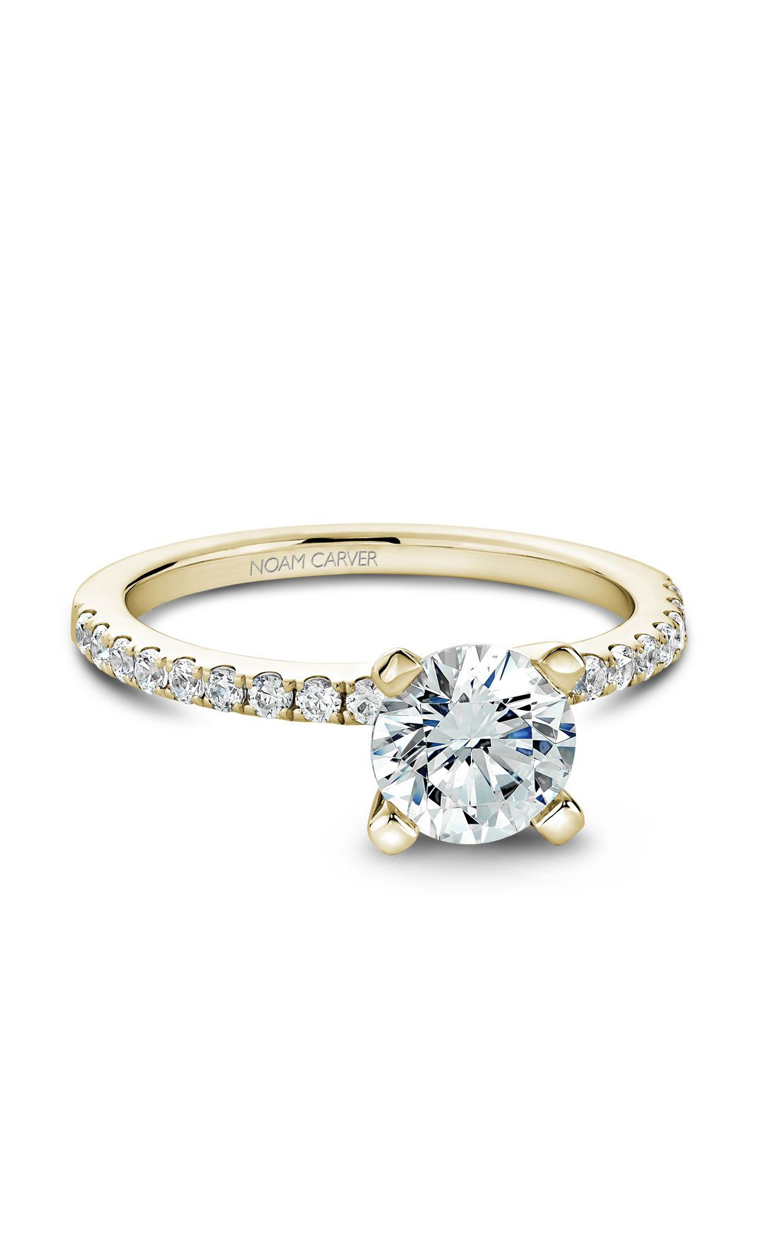 Noam Carver Classic Engagement Ring B017-01YA product image