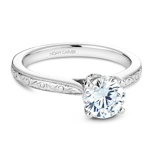Noam Carver Classic Engagement Ring B140-02EA product image