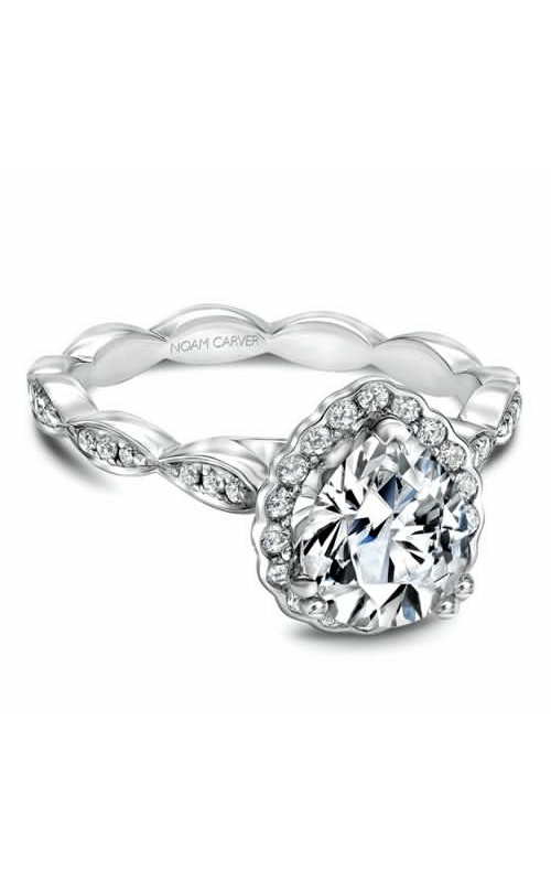 Noam Carver Floral Engagement Ring B085-03WM product image
