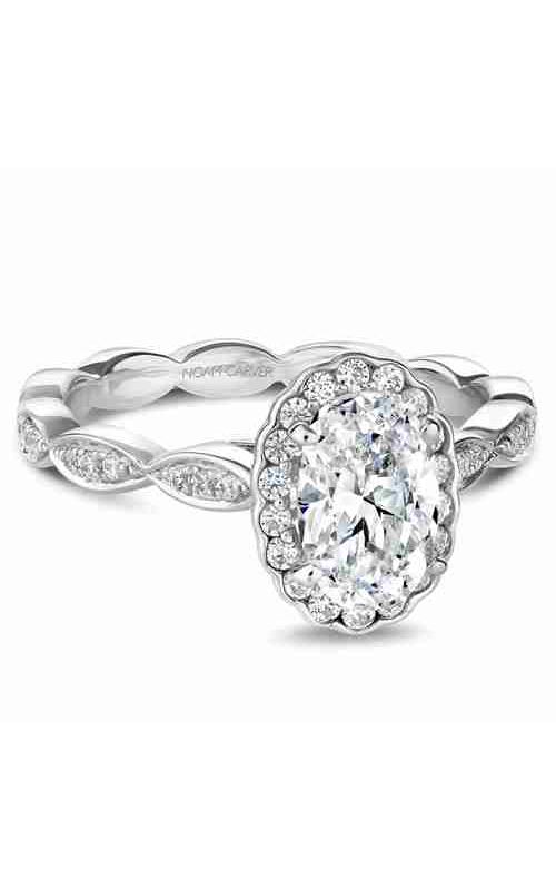 Noam Carver Floral Engagement Ring B085-02WM product image