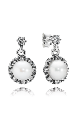 PANDORA Everlasting Grace, White Pearl & Clear CZ Earrings 290562P product image