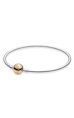 PANDORA Silver Bangle Charm Bracelet With 14K Gold Clasp 590718-21 product image