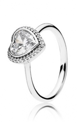 PANDORA Sparkling Love Heart Ring Clear CZ 190929CZ-58 product image