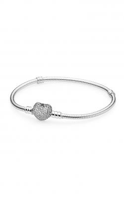 PANDORA Pave Heart Bracelet Clear CZ 590727CZ-17 product image