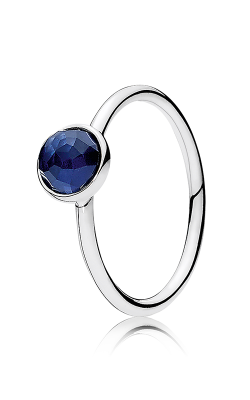 PANDORA September Droplet Synthetic Sapphire Ring 191012SSA-52 product image