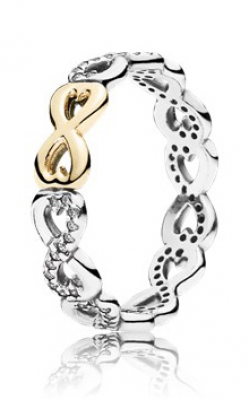 PANDORA Infinite Love Stackable Ring Clear CZ 190948CZ-48 product image
