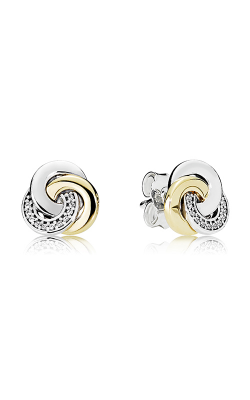 PANDORA Interlinked Circles Clear CZ Earrings 290741CZ