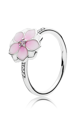 PANDORA Magnolia Bloom Pale Cerise Enamel & Pink CZ Ring 191026PCZ-48 product image
