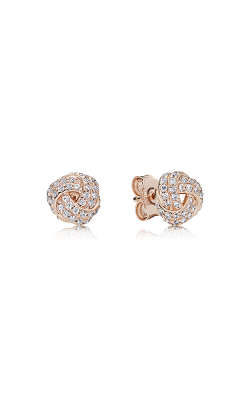 PANDORA Rose™ & Clear CZ, Sparkling Love Knot Earrings 280696CZ