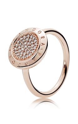 PANDORA Rose™ & Clear CZ, PANDORA Signature Ring 180912CZ-48