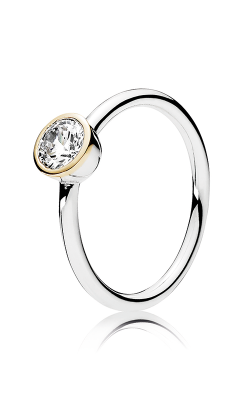 PANDORA Mother's Day Petite Circle Clear CZ Fashion Ring 191043CZ-48 product image