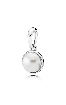 PANDORA Mother's Day Luminous Droplet White Crystal Pearl Pendant 390400WCP product image