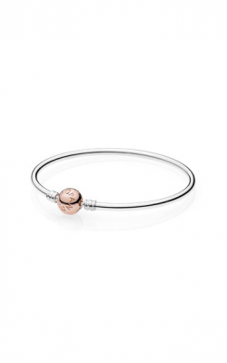 PANDORA Sterling Silver Bangle Bracelet with PANDORA ROSE Clasp 580713-19 product image