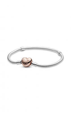 PANDORA Rose™ Heart Clasp with PANDORA Sterling Silver Bracelet 580719-16