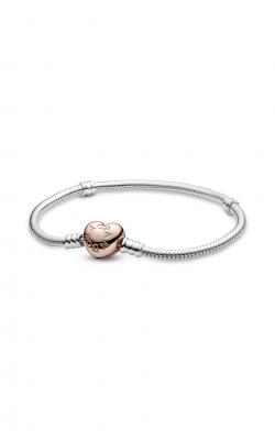 PANDORA Sterling Silver Bracelet w/ PANDORA ROSE Heart Clasp 580719-18 product image