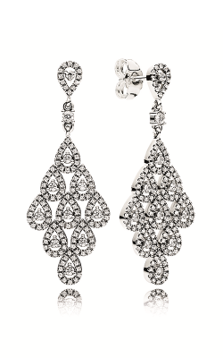 PANDORA Cascading Glamour Earrings, Clear CZ 296201CZ product image