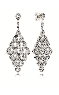 PANDORA Cascading Glamour Earrings, Clear CZ 296321CZ product image