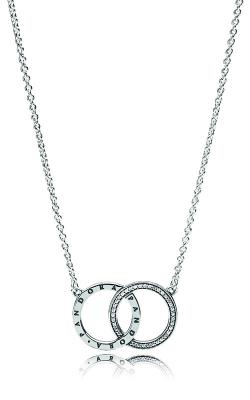 PANDORA Circles Necklace Clear CZ 396235CZ-45 product image