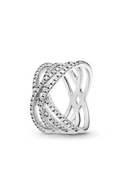 PANDORA Cosmic Lines Ring, Clear CZ 196401CZ-54 product image