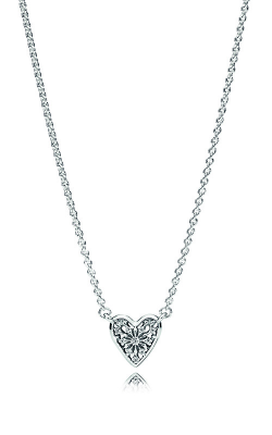 PANDORA Heart of Winter Necklace, Clear CZ 396370CZ-45 product image