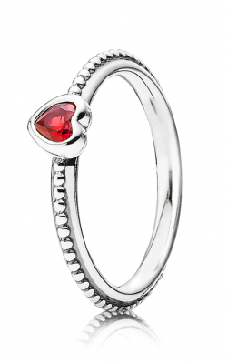 PANDORA One Love Ring Scarlet Synthetic Ruby 190896SGR-56 product image