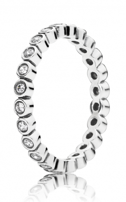 PANDORA Alluring Petite Brilliant Stackable Ring Clear CZ 190941CZ-60 product image