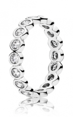 PANDORA Alluring Brilliant Stackable Ring Clear CZ 190942CZ-56 product image