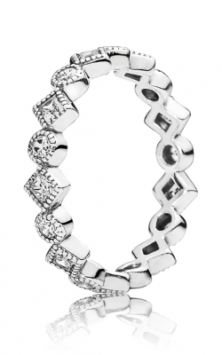 PANDORA Alluring Brilliant Princess Stackable Ring CZ 190943CZ-48 product image