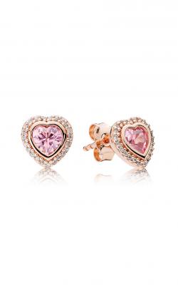 PANDORA Rose™ Pink & Clear CZ, Sparkling Love Stud Earrings 280568PCZ