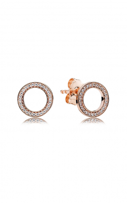 PANDORA Rose™ & Clear CZ, Forever Stud Earrings 280585CZ