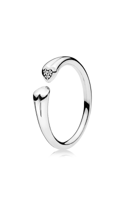 PANDORA Two Hearts Ring Clear CZ 196572CZ-44