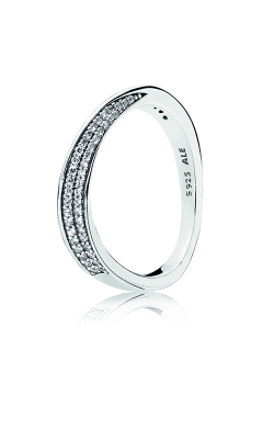 PANDORA Elegant Waves Ring, Clear CZ 197136CZ-44 product image
