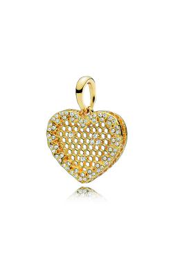 PANDORA Shine™ & Clear CZ Honeycomb Lace Pendant 367111CZ