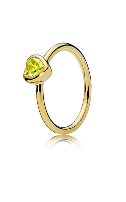 PANDORA Shine™ & Yellow Cubic Zirconia Radiant Heart Ring 167089CSY-48