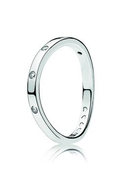 PANDORA Swirling Droplets Ring, Clear CZ 197113CZ-48 product image