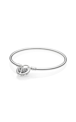 Limited Edition Flourishing Heart Padlock Bangle B800873-17 product image