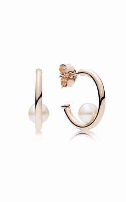 Contemporary Pearls Hoop Earrings PANDORA Rose™ & Freshwater Cultured Pearl 287528P