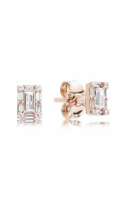 Luminous Ice Stud Earrings PANDORA Rose™ & Clear CZ 287567CZ