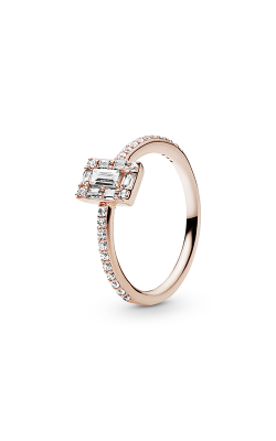 Luminous Ice Ring PANDORA Rose™ & Clear CZ 187541CZ-48