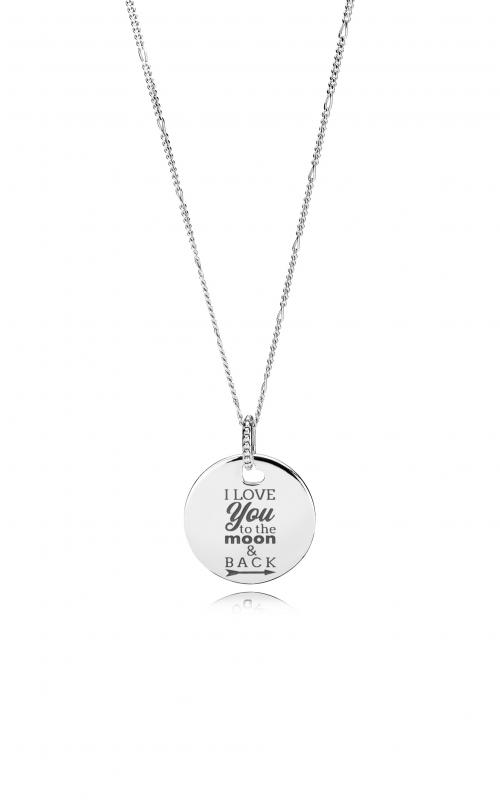 Pandora Women Silver Pendant Necklace - 397197CBK-38 A4J405JYPN