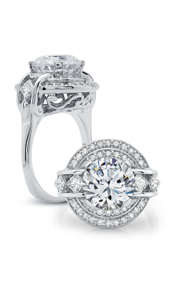 Peter Storm Halo Engagement Ring WS176WD product image