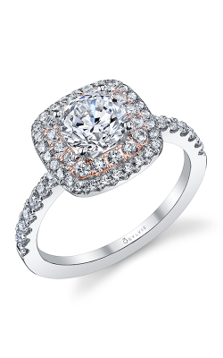 Sylvie Halo Engagement ring, S1097-55A8K10RC product image