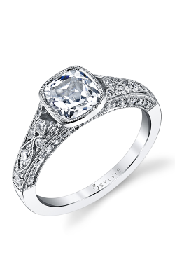 Sylvie Sidestone Engagement ring, S1132-054A8W12C product image