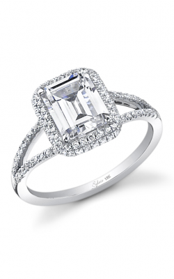 Sylvie Halo Engagement ring SY289 product image