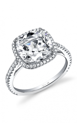 Sylvie Halo Engagement ring SY395 CU product image
