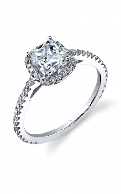 Sylvie Halo Engagement ring SY395 PR product image