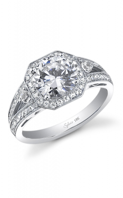 Sylvie Halo Engagement ring SY442 product image